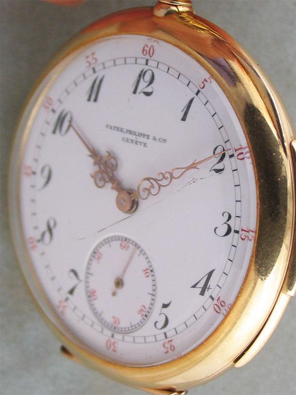 PATEK PHILIPPE 18K.ミニッツリピーター懐中時計 made for A.J.SANDROW N.Y.アーカイブ付き