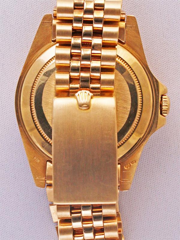 ROLEX 18Kオイスタ−パ−ペチュアルデイト 「GMT−MASTER」18Kジュビリ−ブレスレット シャイニーブラウンカメレオンアイダイヤル