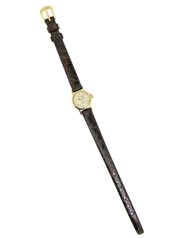 ROLEX 18K.ラウンドケース「Orchid」婦人用手巻き