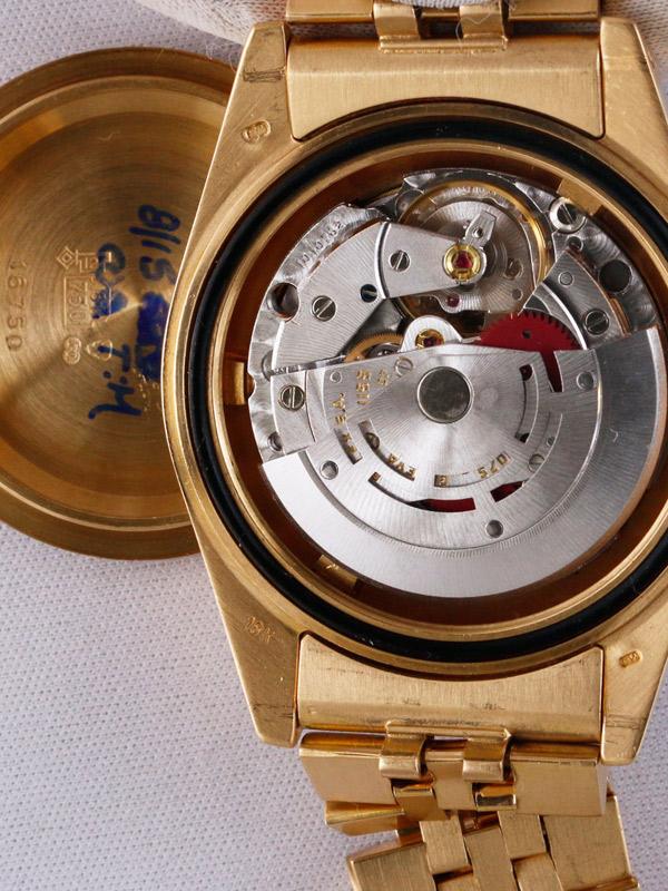 ROLEX 18Kオイスターパーペチュアルデイト 「GMT−MASTER」18K.ジュビリープレジデントブレスレット ブラックカメレオンアイミラーダイヤル
