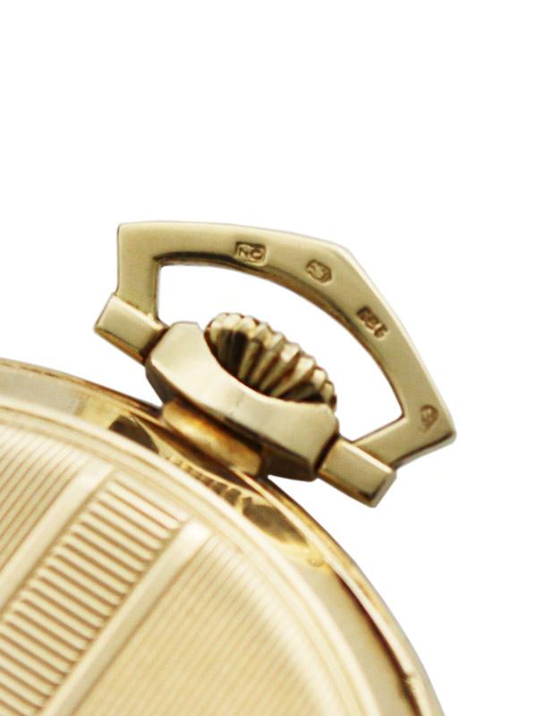 International Watch Co. 14K. 懐中時計 2トーンゴールドアップライドアラビア数字インデックスダイヤル