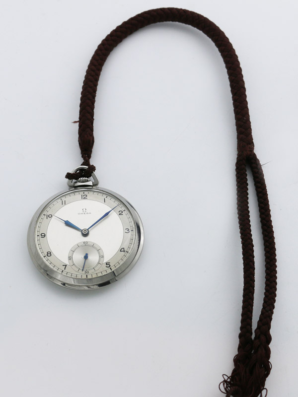 OMEGA SS スナップバックケース懐中時計