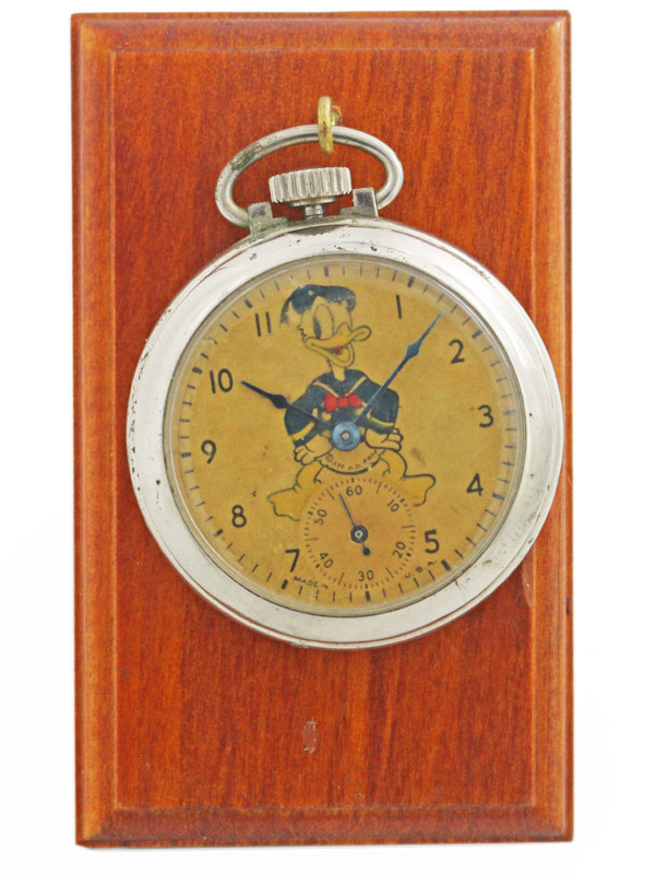 Donald Duck ベースメタルクロームメッキケース ingersoll 懐中時計 1939'S