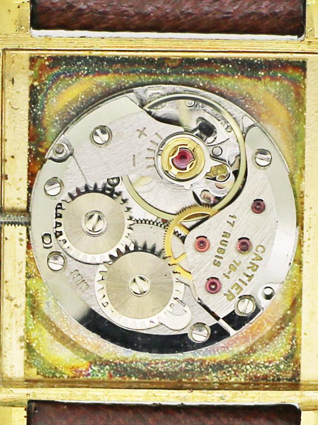 CARTIER 925 Silver G.P. 「TANK」must de Cartierモデル 紳士用手巻き