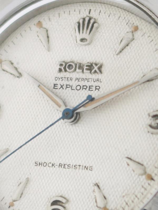 ROLEX SSオイスターパーペチュアル「EXPLORER」SHOCK−RESISTINGギョウシェダイヤル