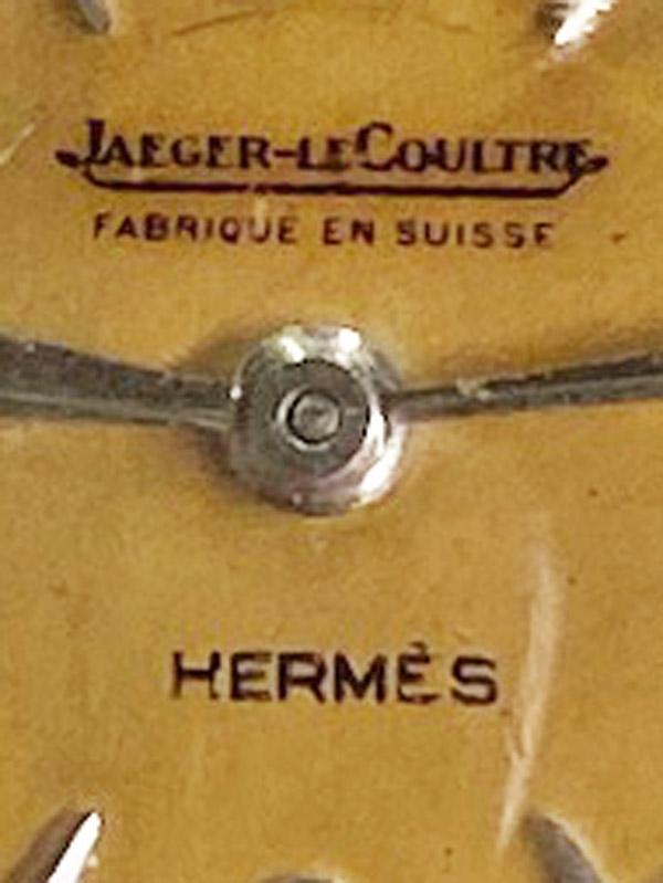 HERMES/JAEGER LECOULTRE SSラウンドケースバックワインド「DUO PLAN」