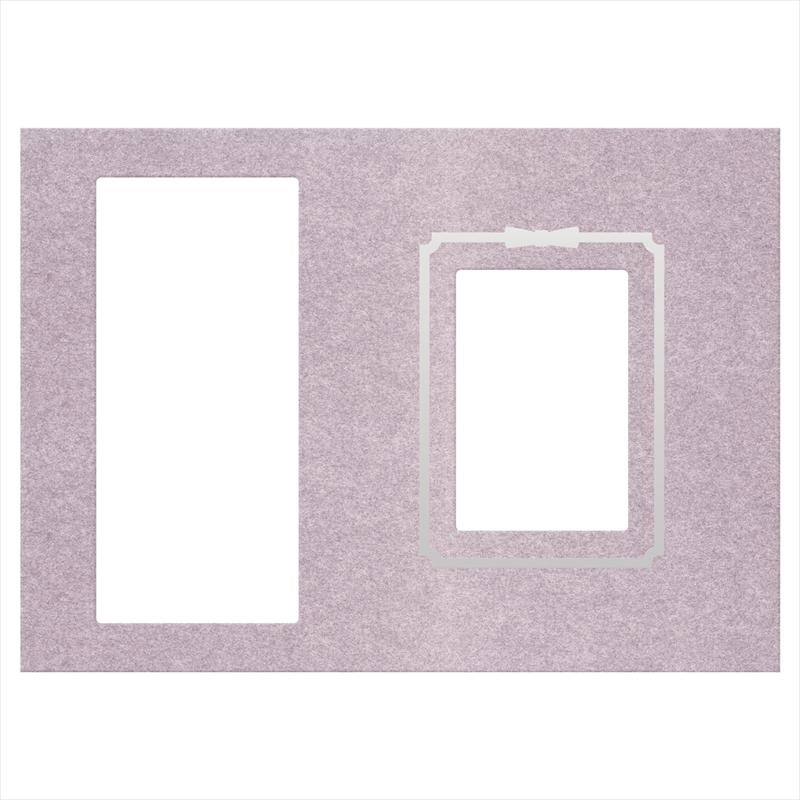 御写真中枠 紫/法名・遺影