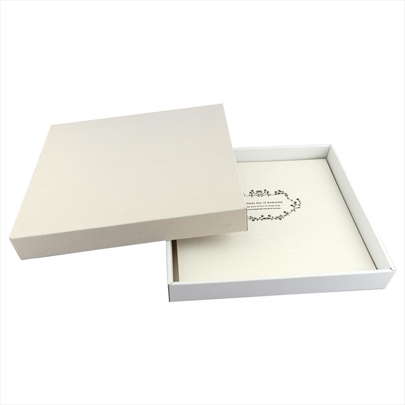 ヒンジアルバムセット【六切用】/白 裏紙3枚・中枠2枚