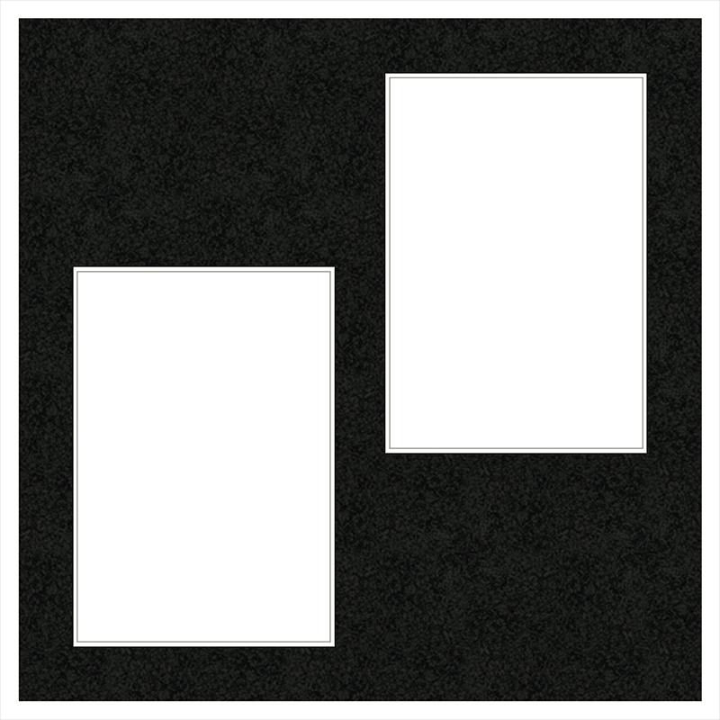 ヒンジアルバムセット【六切用】/茶 裏紙3枚・中枠2枚