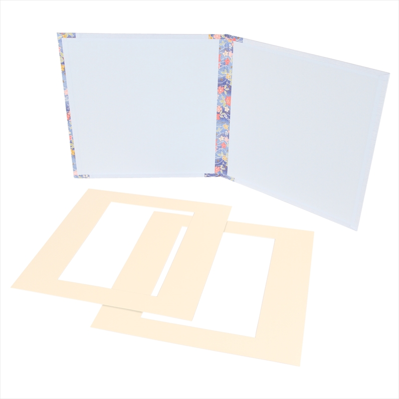 和装用台紙ブルー2面(角×角)
