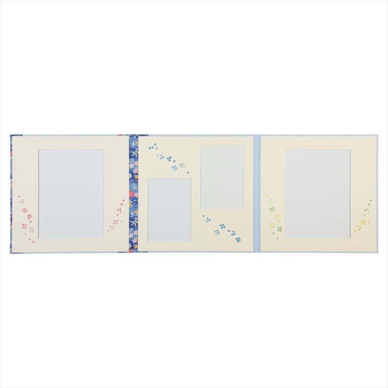 和装用台紙ブルー3面(角×2L2×角)