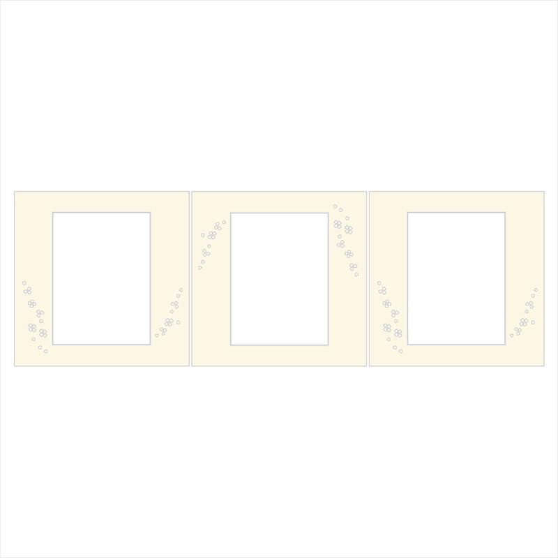 和装用台紙ベージュ3面(角×角×角)