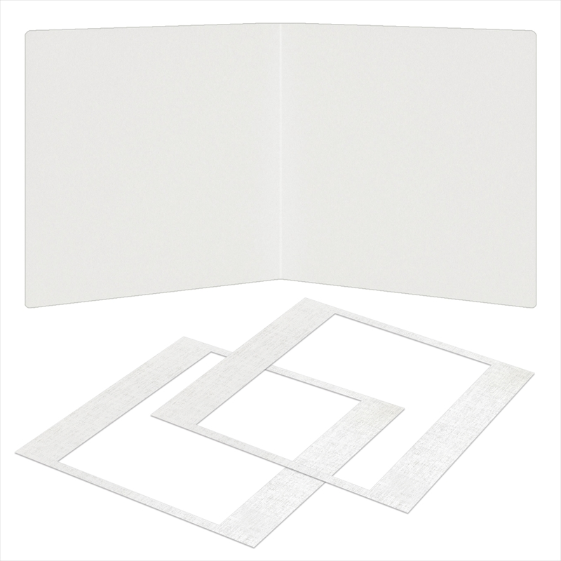 紙台紙SQ 258/白(六切2枚)