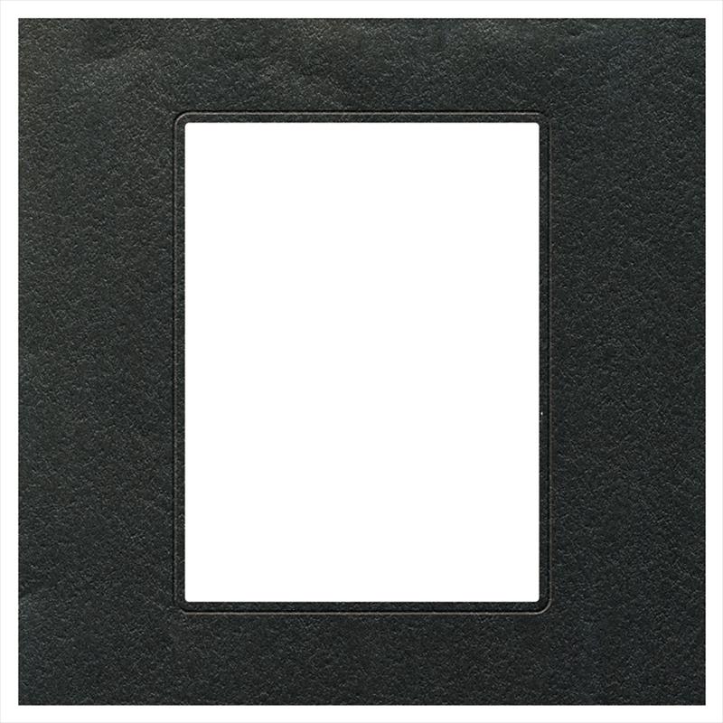 ヒンジ中枠【四切用】/六切角/黒(HGYB)