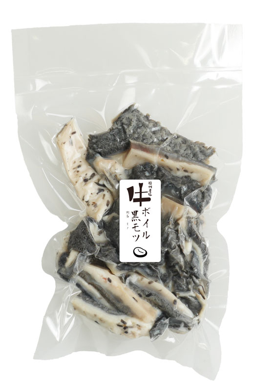 信州産牛ボイル黒モツ 150g