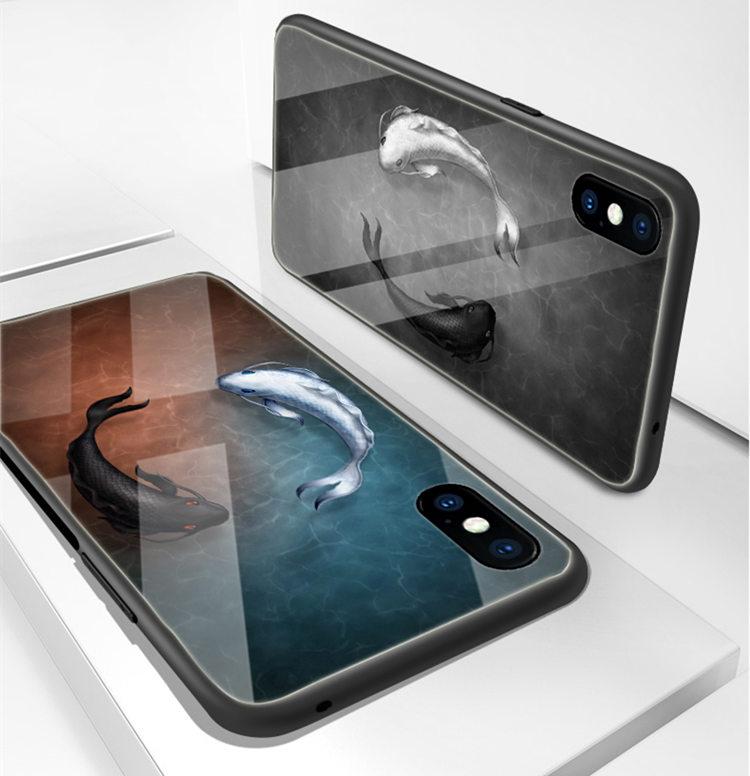 送料無料 Samsung Galaxy S10 ケース ギャラクシー s10 ケース サンスム 6.1インチ SCV41 SC-03L docomo au スマホケース 背面カバー  TPU ガラスケース さかな
