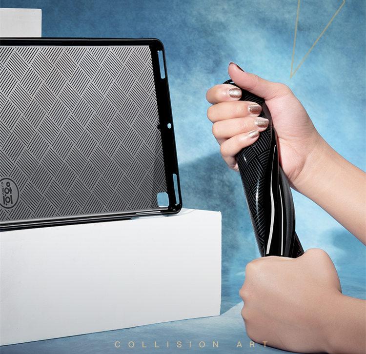 送料無料 iPad Air3 ケース iPad Air 10.5インチ 2019 ケース iPad Air 10.5インチ 第3世代 ケース アイパッド カバー タブレットPC 手帳型 ソフトケース オートスリープ機能付き 3D 刺繍 ヘラジカ