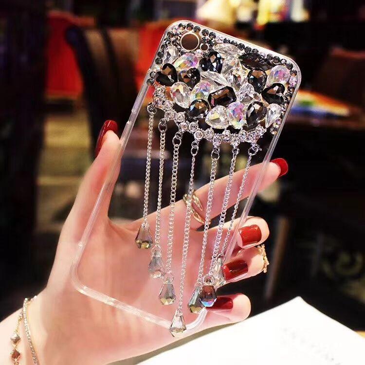 送料無料!iphone8 plus ケース iphone7 plus ケース アイフォン8 プラス ケース アイフォン7 プラス カバー Apple 5.5インチ  背面カバー 透明 デコ ストーン ゆらゆら おしゃれ