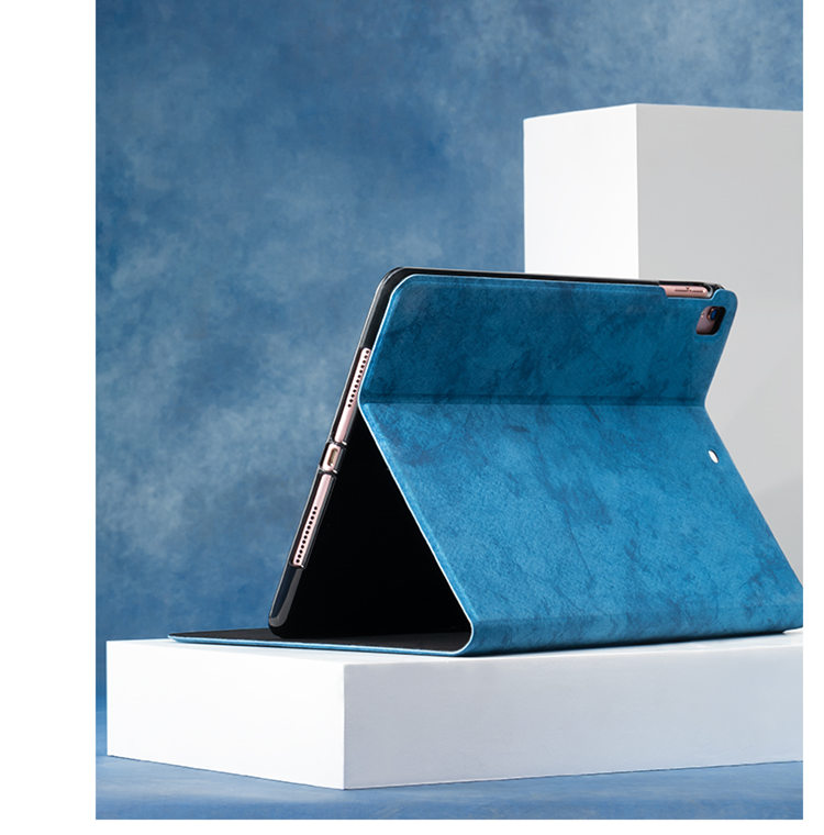 送料無料  iPad Pro 11インチ アイパット カバー(11インチ) タブレットPC 手帳型 ソフトケース オートスリープ機能付き 3D 刺繍 ヘラジカ