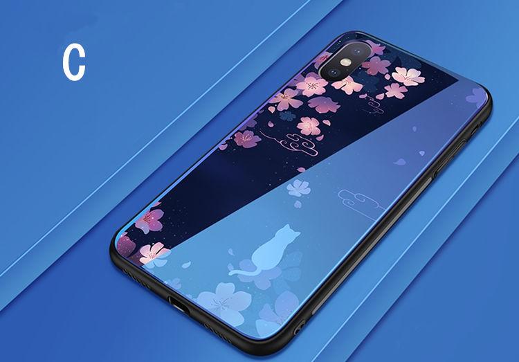 iPhone �S Maxケース iPhone XS Max ケース アイフォン テンエス マックス カバー Apple 6.5インチ スマホケース 背面カバー  TPU ガラスケース かわいい