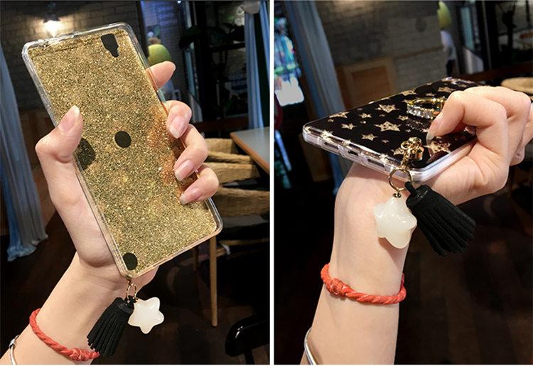 Samsung Galaxy S9 Plus ケース SC-03K/SCV39 docomo au サンスム スマホケース 保護カバー TPUソフト きらきら リングスタンドあり かわいい ストラップ付き