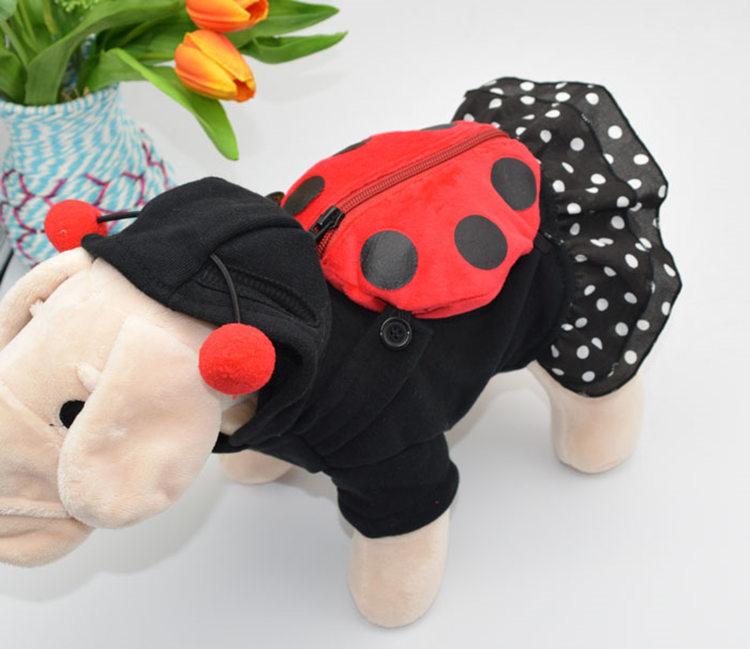 犬の服 スカート ドッグウエア ペット用品 ペッド服 ペットグッズ 新作 犬服 てんとう虫に変身