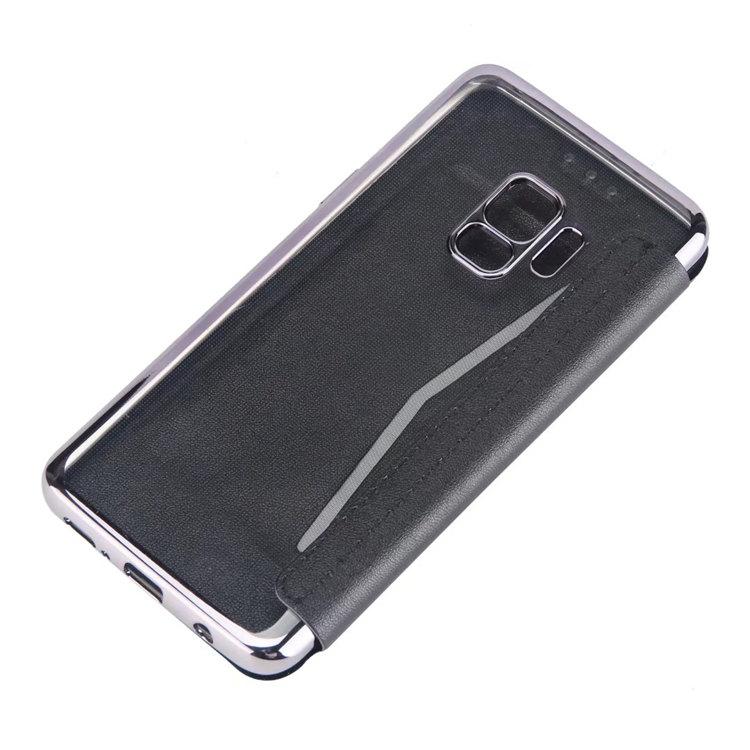 Samsung Galaxy S9+ ケース Galaxy S9 Plus ケース ギャラクシー S9 プラスケース SC-03K/SCV39 docomo au サンスム スマホケース 保護カバー  手帳型 カード収納 透明 薄型 金メッキ