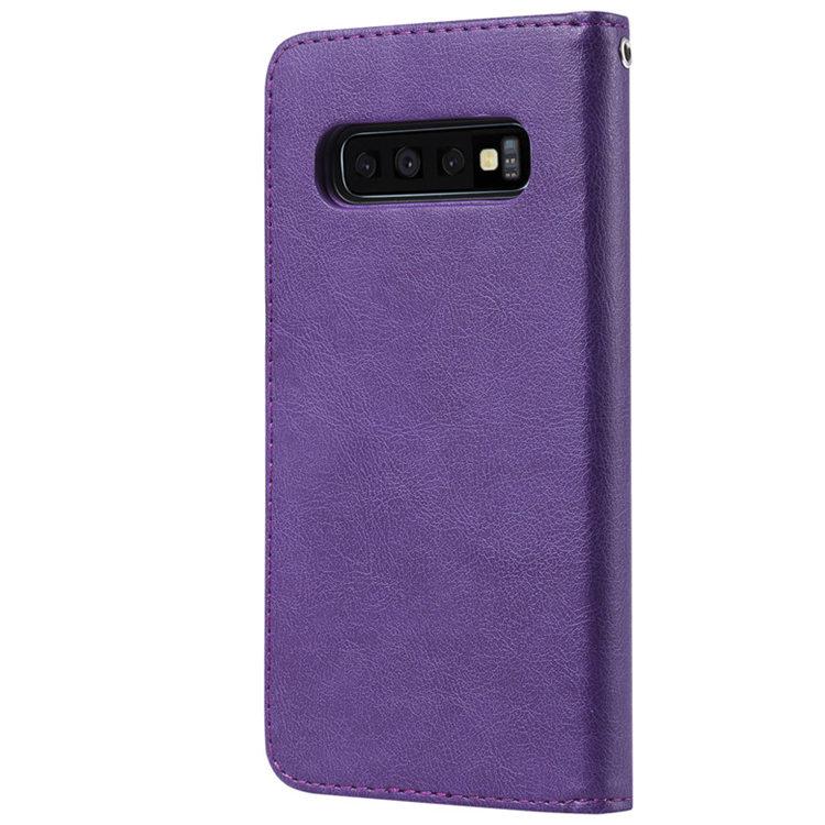 送料無料 Samsung Galaxy S10 ケース ギャラクシー s10 ケース サンスム 6.1インチ SCV41 SC-03L docomo au スマホケース 手帳型 カード収納あり スタンドタイプ シンプル 取り外せる ストラップ付き