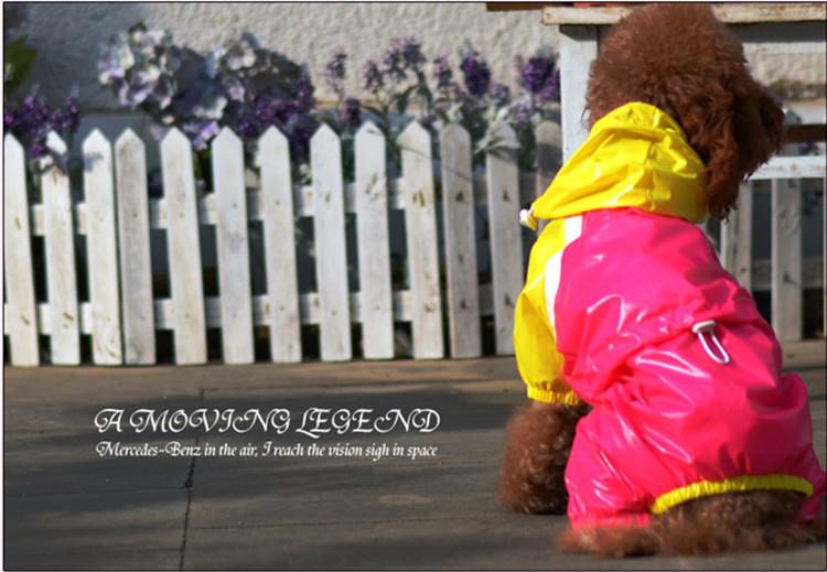 送料無料!犬服 レインコート 前開き スナップボタン 脱ぎ着しやすい 通気性抜群 ドッグウェア ペット用品
