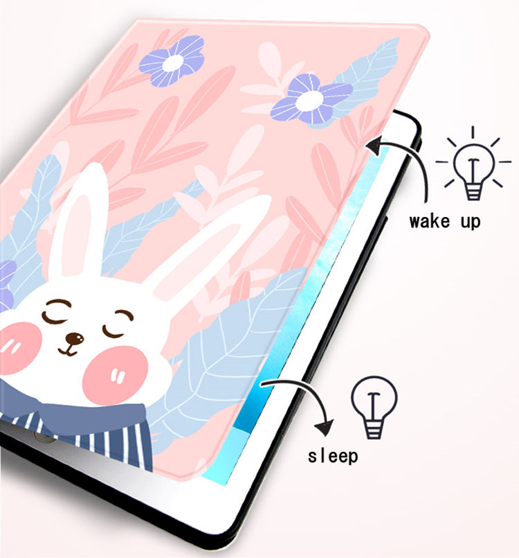 送料無料 iPad 10.2インチ(第7世代/2019)ケース アイパッド カバー タブレットPC  手帳型 オートスリープ機能付き PUレザーケース かわいい