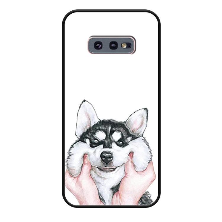 送料無料 Samsung Galaxy S10 ケース ギャラクシー s10 ケース サンスム 6.1インチ SCV41 SC-03L docomo au  サンスム スマホケース TPUソフトケース 背面カバー 犬 ちょうかわいい
