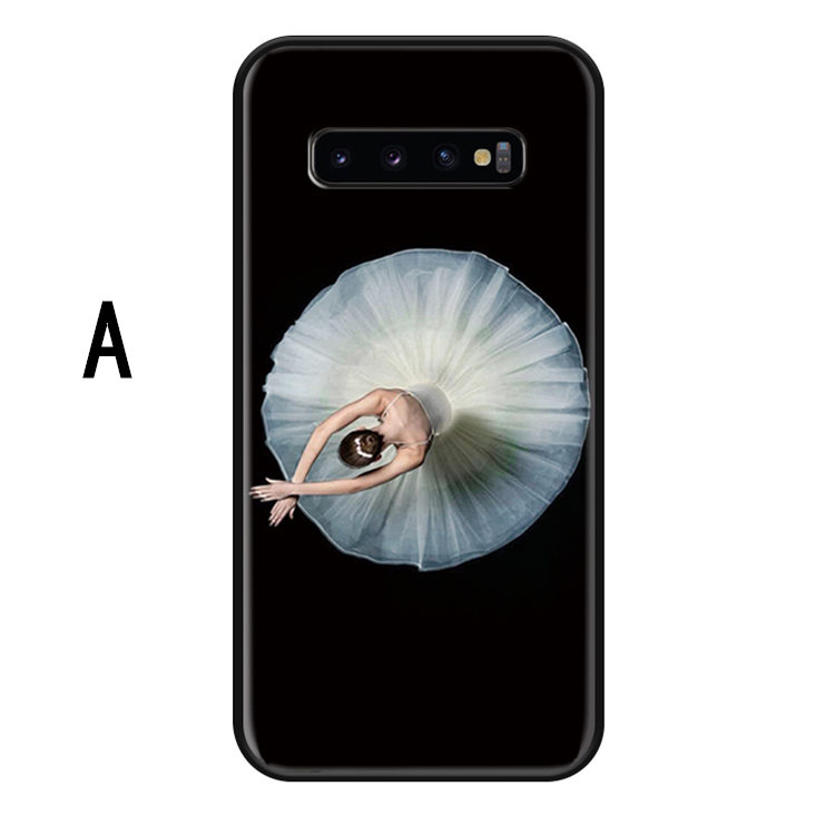 送料無料 Samsung Galaxy S10 ケース ギャラクシー s10 ケース サンスム 6.1インチ SCV41 SC-03L docomo au サンスム スマホケース シリコン tpu ソフトケース 背面カバー バレエ 女の子 かわいい