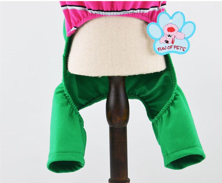 犬の服 ロンパース つなぎ ペット用品 DOG服 犬服 ペット服 サロペット風 ボーター柄 かわいい ウサギ