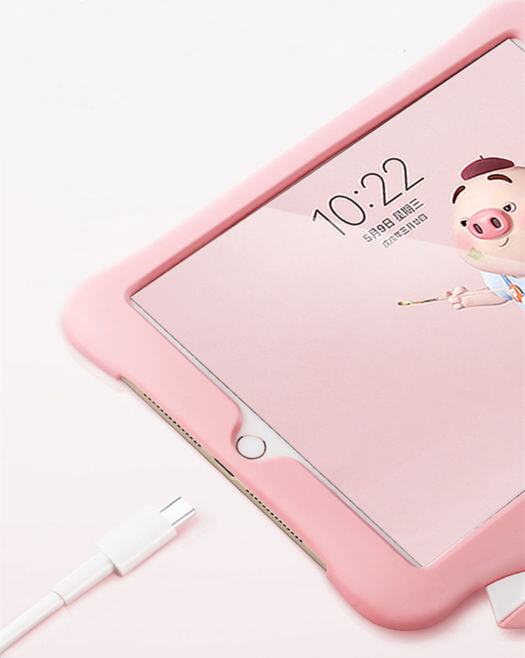 送料無料 iPad Air3 ケース iPad Air 10.5インチ 2019 ケース iPad Air 10.5インチ 第3世代 ケース アイパッド カバー タブレットPC シリコンケース  背面カバー耐衝撃 スタンドタイプ ラップ付き ピンク