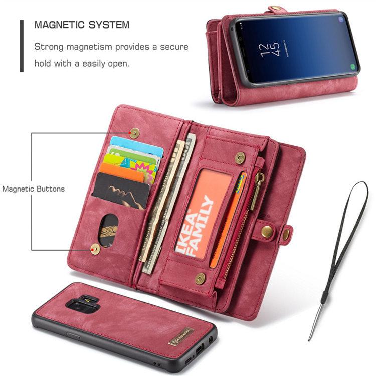 Samsung Galaxy S9 ケース ギャラクシー S9 ケース SC-02K/SCV38 docomo au サンスム スマホケース 保護カバー 手帳型 財布 多数カード収納 取り外せる 便利
