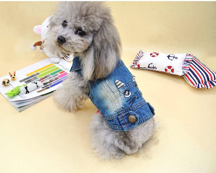 犬の服 ベスト タンクトップ ドッグウエア ペット用品 ペット服 ペットグッズ かわいい キャラクター ジンズ生地