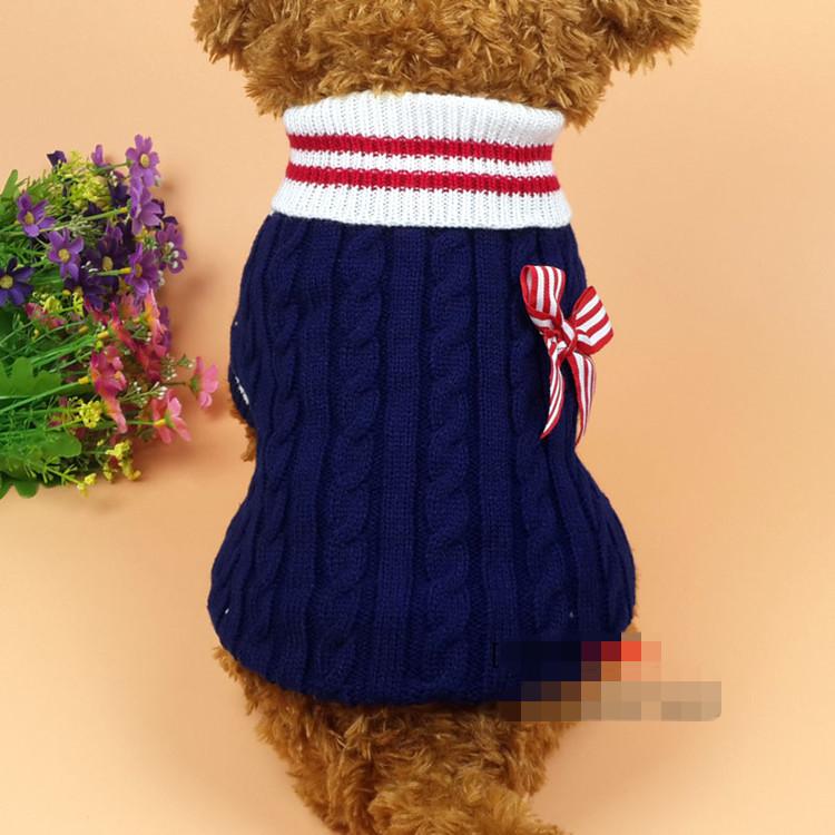 送料無料!犬服 セーター かわいいリボン あたっかい 秋 冬 ドッグウェア ペット用品 犬の服 犬用防寒着 さあ、散歩にいこう!