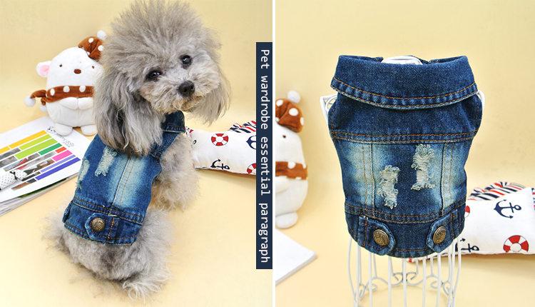犬の服 ベスト タンクトップ ドッグウエア ペット用品 ペット服 ペットグッズ ジンズ生地