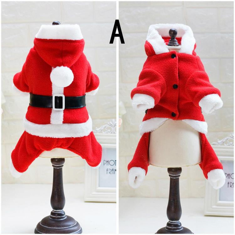 送料無料 犬の服 クリスマス サンタ服 前開き ドッグウエア ワンちゃん服  スナップボタン 犬の服中綿防寒冬物 着ぐるみ とってもあったかくて、ワンちゃんも大喜び