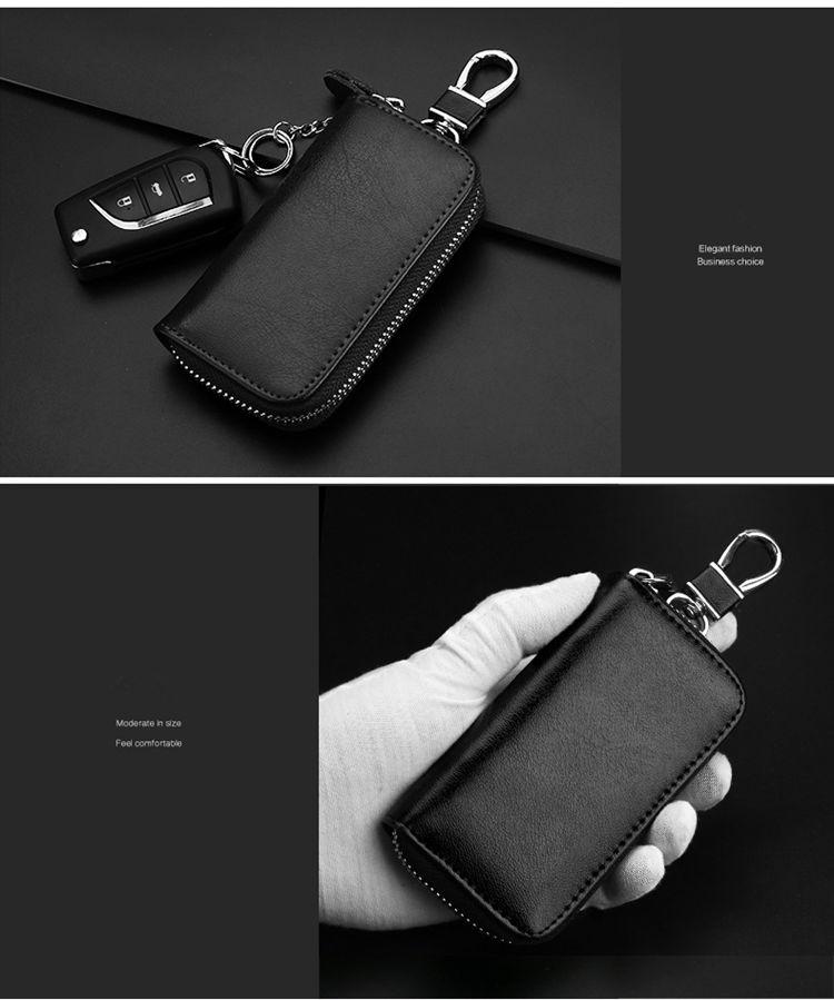 送料無料 キーケース 多機能ポーチ 6連キーホルダー レディース メンズ フック式 取り外せる リング式 カード収納 スマート