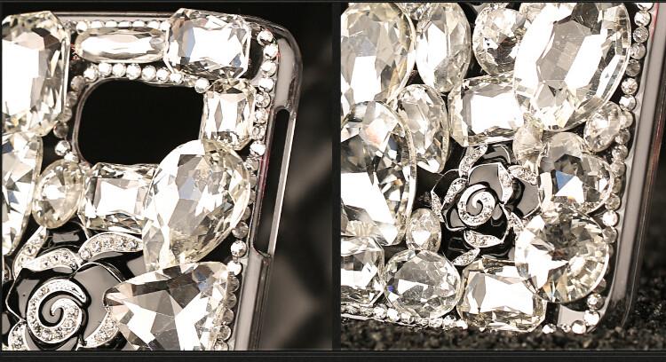 送料無料 Samsung Galaxy S10 ケース ギャラクシー s10 ケース サンスム 6.1インチ SCV41 SC-03L docomo au スマホケース カバー ハンドメイド キラキラ デコ 大きいストーン 花