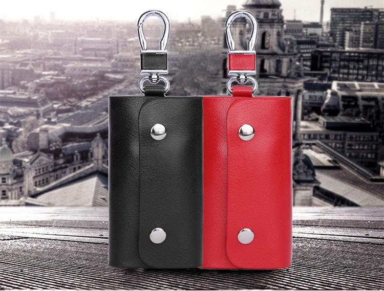 送料無料 キーケース 6連キーホルダー レディース メンズ フック式 取り外せる リング式 スマート カッコイイ