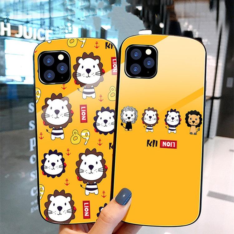 送料無料!iPhone 11 Pro Maxケース iPhone11 pro maxカバー アイフォン11 プロ マックス ケース Apple 6.5インチ スマホケース 保護カバー 背面カバー TPU&ガラスケース リング付き リング付き lion かわいい