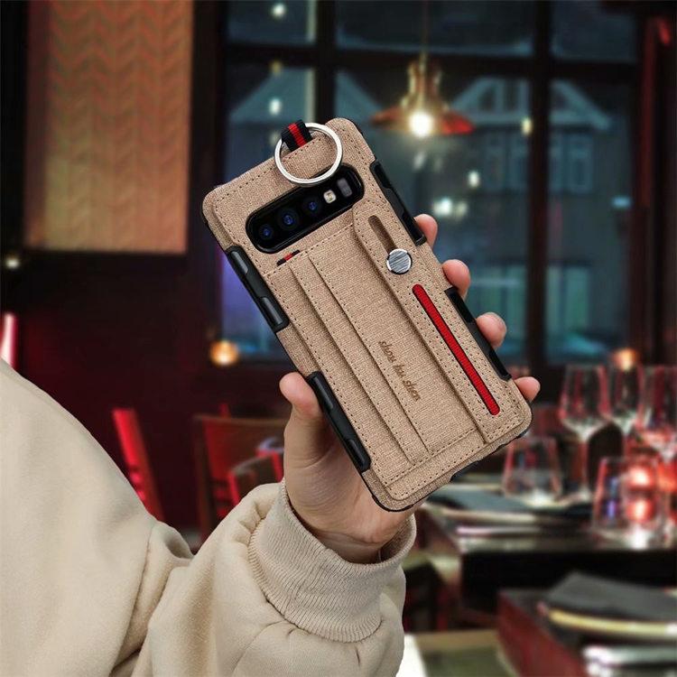 送料無料!Samsung Galaxy S10+ ケース ギャラクシー s10 プラスケース au SCV42 docomo SC-04L  背面カバー カード収納 スタンドタイプ リング シリコン バンパー