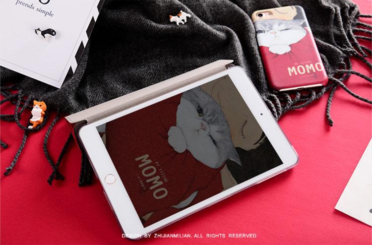 送料無料!iPad Pro 10.5 ケース ipad pro 10.5 カバー アイパッドプロ ケース (10.5インチ)手帳型 タブレットPC スタンドタイプ iPad Pro 10.5インチ用カバー 手帳型 軽量 極薄 オートスリープ機能付き 猫 レッド