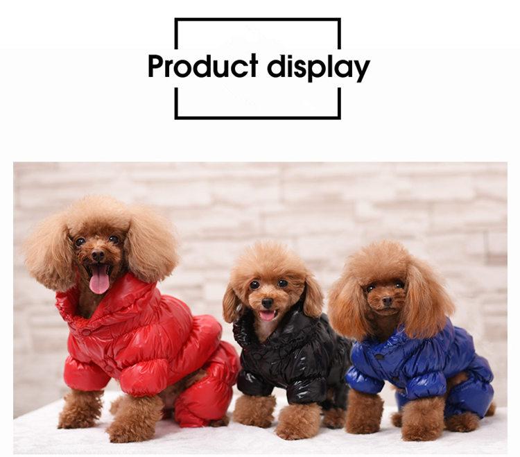 送料無料!犬の服 前開き スナップボタン 中綿防寒冬物 防水 ドッグウエア ペット服 ワンちゃん服 寒い地方に住んでるワンちゃんや寒がりワンちゃんにおすすめ。