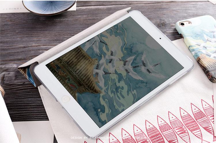 送料無料!iPad Pro 10.5 ケース ipad pro 10.5 カバー アイパッドプロ ケース (10.5インチ)手帳型 タブレットPC スタンドタイプ iPad Pro 10.5インチ用カバー 手帳型 軽量 極薄 オートスリープ機能付き 鶴