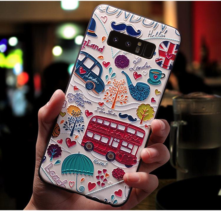 送料無料!Galaxy Note8 ケース ギャラクシーノートエイト ケース SC-01K/SCV37 docomo au サンスム 保護カバー ソフト背面カバー 浮き彫り