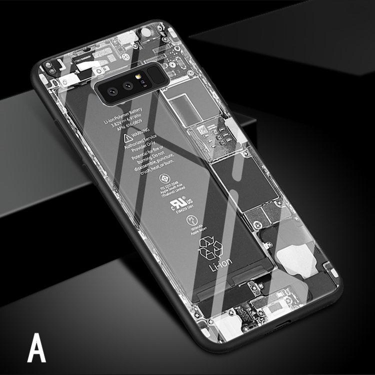 送料無料!Galaxy Note8 ケース ギャラクシーノートエイト ケース SC-01K/SCV37 docomo au サンスム スマホケース 背面カバー  TPU ガラスケース テープ