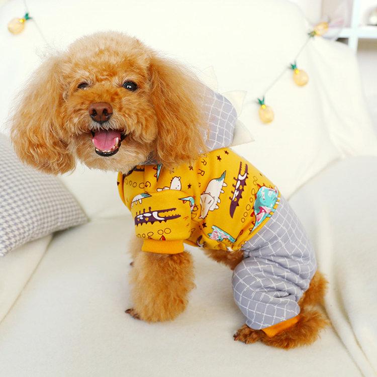 送料無料!犬の服 前開き スナップボタン ふかふか の パーカー カバー オール つなぎ チェック柄 着ぐるみ コスチューム ちょうかわいい ドッグウエア ペット服 ワンちゃん服